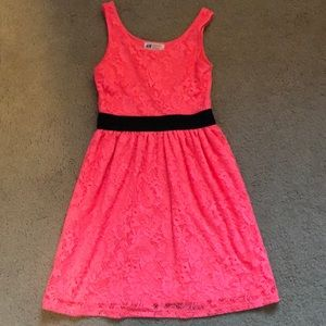 H&M Girls Tank Dress. Neon Pink
